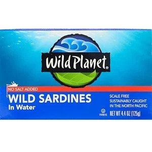 天然イワシ水煮 食塩無添加 125g / Wild Sardines Not Salted 125g